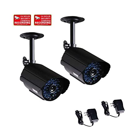 b629cf85d47 VideoSecu 2 Pack Bullet Outdoor CCTV Infrared Day Night Vision Security  Cameras Weatherproof 520TVL High Resolution