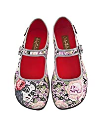 Hot Chocolate Design Chocolaticas Flora La Muerte Women's Mary Jane Flat