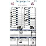 Toronto at Yankees 7-5-2017 Game Used Lineup Card (JC039130)