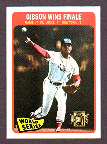 Bob Gibson 1964 Topps World Series Game 7 Reprint Card (Gibson Wins Finale (From 1965 Topps #138) (St Louis)