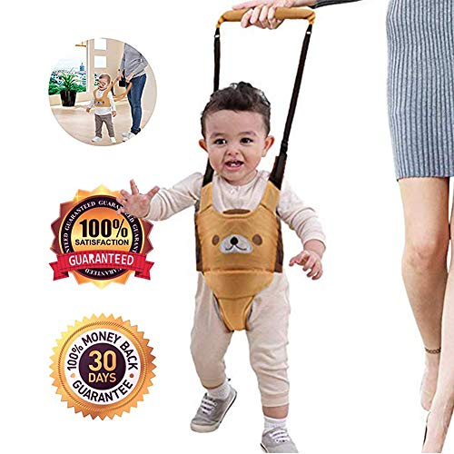 Handheld Baby Walking Harness Baby Toddler Walking Assistant Protective Belt Carry Trooper Adjustable Walking Safety Walk Learning Baby Walker Wings (Yellow, Jockstrap Style)