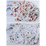 Baby-Muslin-Baby-Swaddle-Blanket-2-Pack-Firetruck-Letters-Print-Baby-Shower-Gifts-Soft-and-Silky-70-Bamboo-30-Cotton-47x47inch-Baby-boy-Nursing-Cover-wrap-Firetruck-Letters
