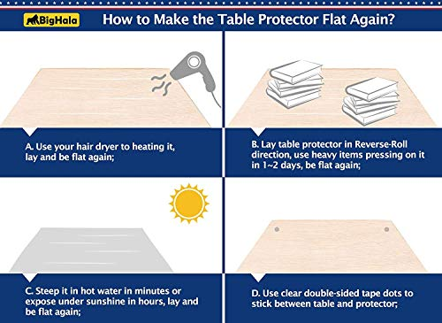Clear Plastic Table Protector Pvc Tablecloth Cover Vinyl
