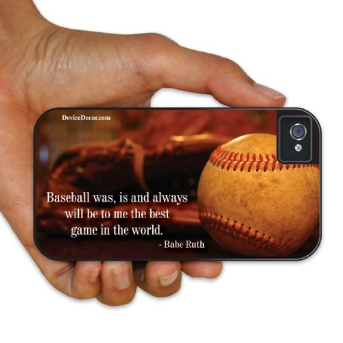 iPhone 4/4s BruteBoxTM Case - Baseball Theme - Babe Ruth Quote - 2 Part Rubber and Plastic Protective Case