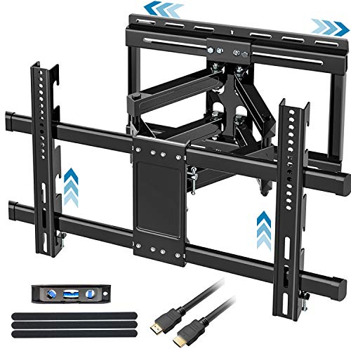 FOZIMOA Full Motion TV Wall Mount with Sliding Design for 32-80 inch TVs, TV Bracket with Articulating Swivel Tilt Arms, Fit LCD LED Plasma Flat Curved Screen, up to 99lbs and VESA 600x400