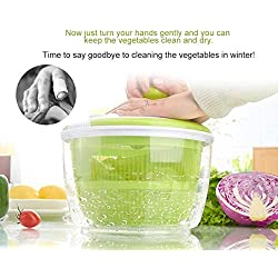 5L Creative Salad Spinner Fruit Vegetable Dehydrator Washer Cleaner Dryer Colander Basket Kitchen Cleaning Drying Machine