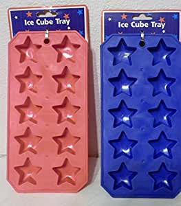 Star Ice Cube Tray - Set of 2 Red and Blue