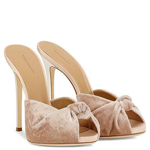 L@YC Damen High Heels Frühling Herbst Club Schuhe PU Hochzeit & Abend Stiletto Heel Nude