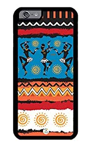 linJUN FENGiZERCASE iPhone 6 PLUS Case Tribal African Dancing Pattern RUBBER CASE - Fits iPhone 6 PLUS T-Mobile, Verizon, AT&T, Sprint and International