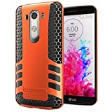 Hyperion Titan 2-piece Premium Hybrid Protective Case / Cover for LG Optimus G3 Cell Phone (Fits all LG Optimus G3 [Possible model numbers: D850, D830, VS985, D851, D972] US and International models and carriers) **2 Year NO HASSLE Warranty** - ORANGE