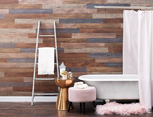 Nance Industries 16632 E-Z Peel and Press Wall Planks 4''X36'' Assorted Wood Colors 20 by Nance Industries (Image #2)