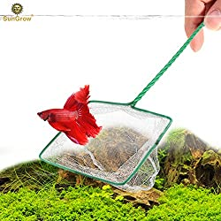 Anti-stress Betta Net -- Routine Tank Maintenance made easy - Durable nylon net prevent pulling fish scales - Transparent net do not scare fish - Hook on handle tail calls for easy storage