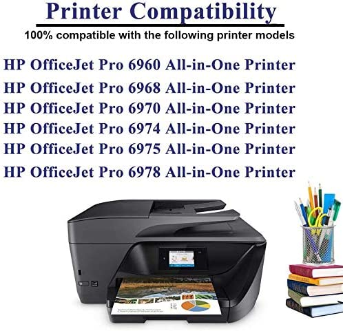 Large Black, 1-Pack SuperInk Remanufactured Ink Cartridge Compatible for HP 906 XL 906XL T6L98AN with Chip use in OfficeJet Pro 6960 6968 6970 6974 6975 6978 All-in-One Printer