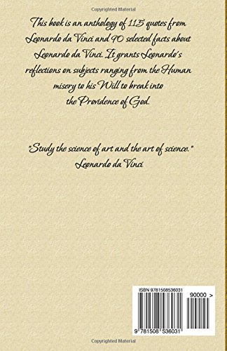 Leonardo Da Vinci Quotes Facts Blago Kirov 9781508536031