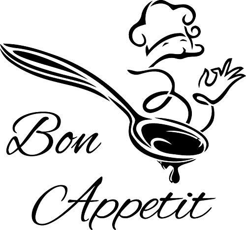 Frankies Cajun Customs Bon Appetit Chef Vinyl Decal - 18