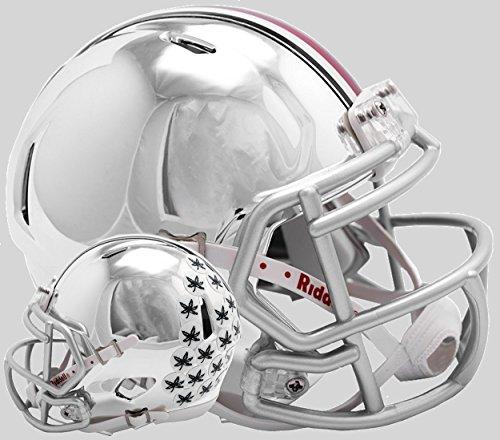 (Riddell NCAA Ohio State Buckeyes Unisex Ohio State Buckeyes Helmet Replica Mini Speed Style Chrome Alternatehelmet Replica Mini Speed Style Chrome Alternate, Team Colors, One Size)
