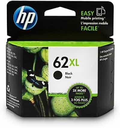 HP 62XL Black High Yield Original Ink Cartridge (C2P05AN) for HP ENVY 5540 5541 5542 5543 5544 5545 5547 5548 5549 5640 5642 5643 5644 5660 5661 5663 5664 5665 7640 7643 7644 7645 HP Officejet 200 250 258 5740 5741 5742 5743 5744 5745 5746 8040