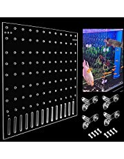 Aquarium Fish Tank Acrylic Divider Isolation Board for Mixed Breeding,with Defecation Holes (Suction Cups are Included)