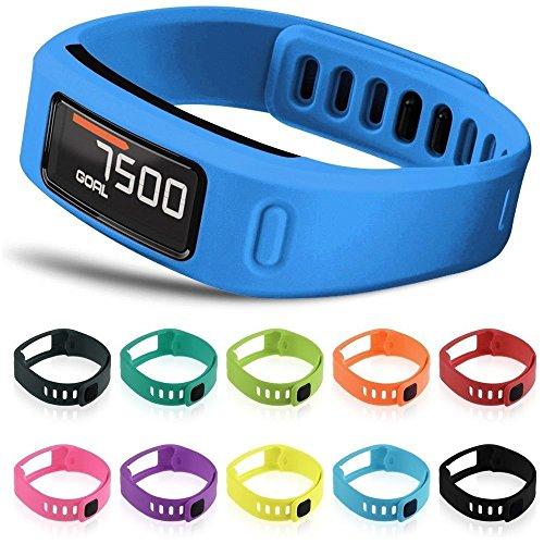Multi Color Wristband (Steven Boy Set of 10 Multi-Color Replacement Wrist Bands For Garmin Vivofit With Clasps Vivofit Bracelets)