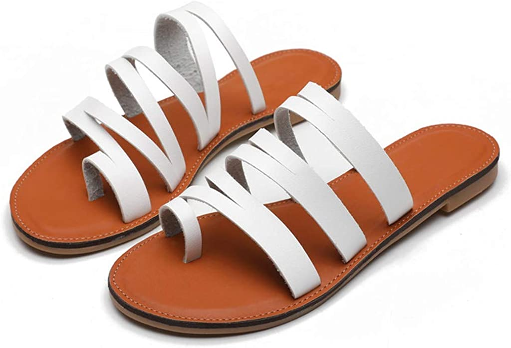 Amlaiworld Women Flip Flops Sandals Outdoor Flat Anti-Slip Slippers Casual Beach Slippers Shoes