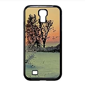 Winter Sunrise Watercolor style Cover Samsung Galaxy S4 I9500 Case (Winter Watercolor style Cover Samsung Galaxy S4 I9500 Case)