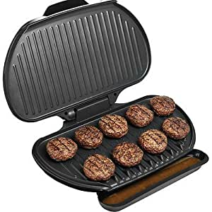 George foreman 144 sq in family size electric for George foreman grill fish