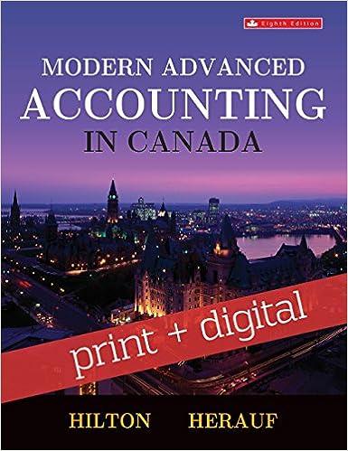 Modern advanced accounting in canada, sixth edition: murray hilton.