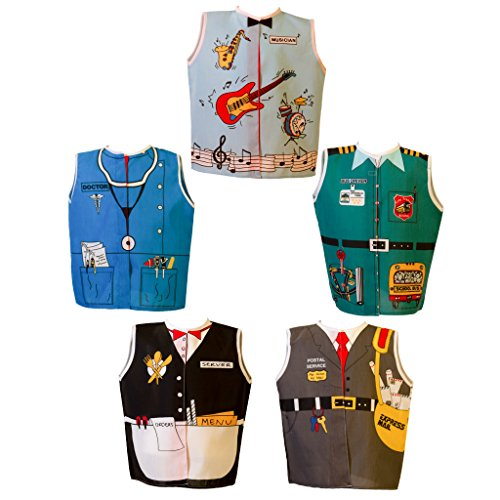 Dexter Educational Play Toddler Career Dress-up Set B Role Play Costumes Set of 5 (Age 2-4 Yrs)