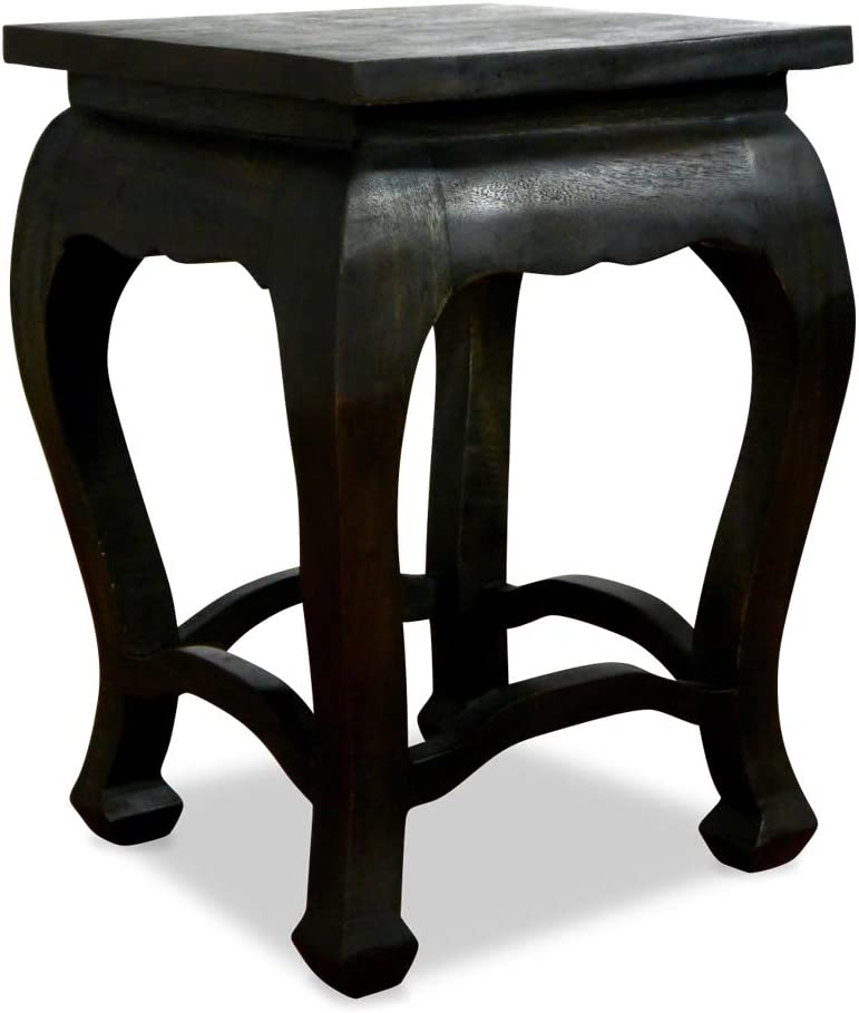 Handmade Thai furniture livasia Asian Opium Table Coffee Table Natural Colour Side Table Stool Plant Stand