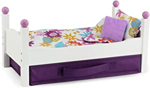 """Emily Rose 14 Inch Doll Bed 