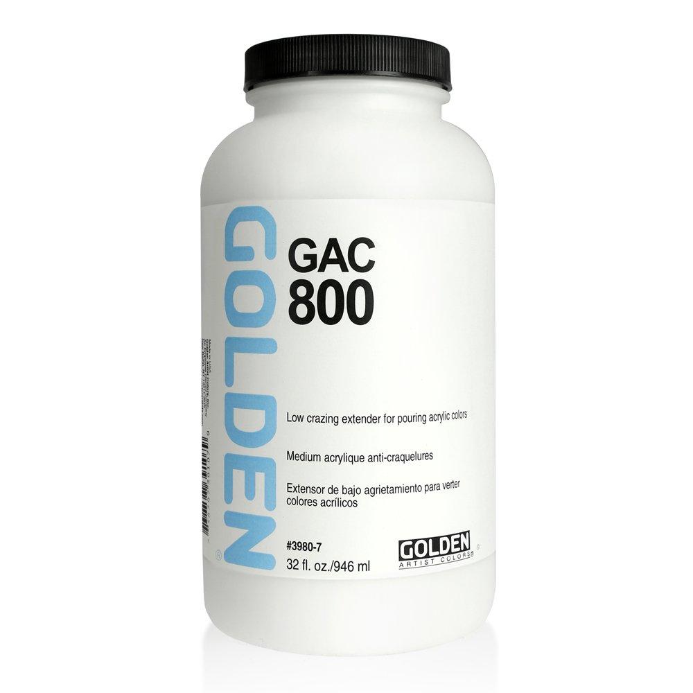 Golden Acryl Med 32 Oz Gac-800 Acrylic White