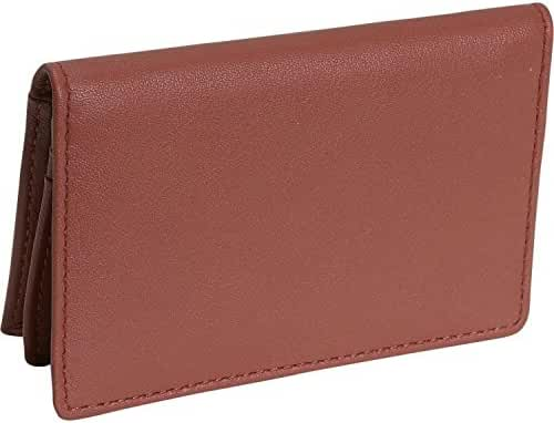 Royce Leather Deluxe Card Holder (Tan)
