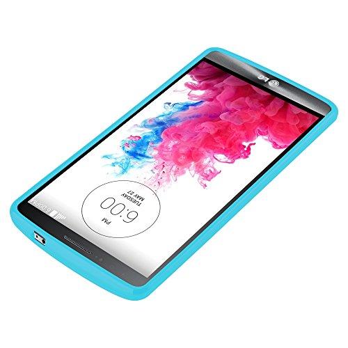 Cadorabo - Cubierta protectora para >                                                  LG G3                                                  < de silicona TPU en Diseño Jelly �?Case Cover Funda Carcasa Protección Jalea en JELLY-AZUL-CLARO JELLY-AZUL-CLARO