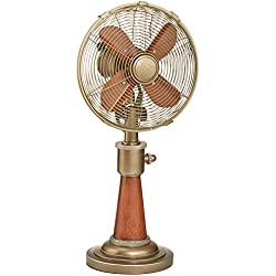 Oscillating Electric Table Fan for Cooling Your Home, Office, Kitchen, Table, and Bedroom Fast - 10 Inch Vintage Style Desk Fan for Your Retro Home Decor (Isaiah)