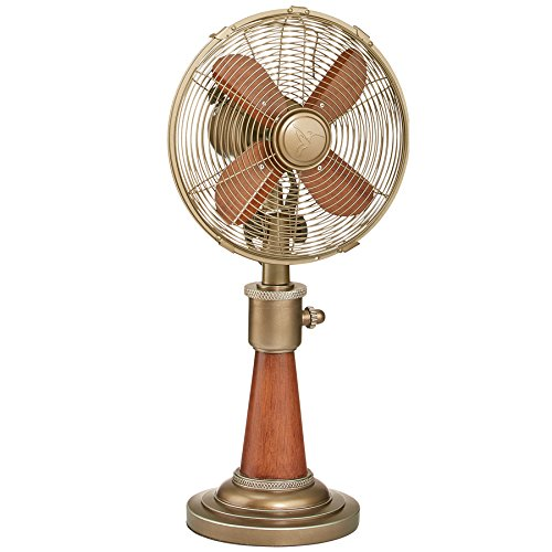 Oscillating Electric Table Fan for Cooling Your Home, Office, Kitchen, Table, and Bedroom Fast - 10 Inch Vintage Style Desk Fan for Your Retro Home Decor ()