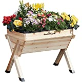 Garden Grow Raised Flower Bed Outdoor Medium Wooden Planter Box for Plants & Vegetables