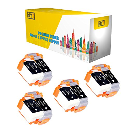 New York Toner New Compatible 8 Pack 4 BCI-11BK Black 4 BCI-11C Color High Yield Inkjet For - BJCAN-70 . -- Black Color ()