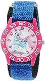 Disney Girl's 'Palace Pet' Quartz Plastic and Nylon Watch, Color:Blue (Model: W002828)