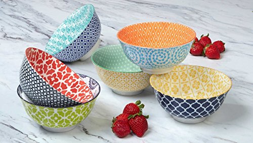 Certified International Large Cereal, Soup, or Pasta Bowls, Chelsea Collection, 6.1 Inch, Set of 6 Assorted Designs by Certified International (Image #2)