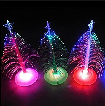 Amazon.com: USB 7 Colors Fiber Optic Christmas Tree with Top Star ...
