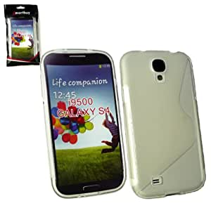 Emartbuy ® Samsung Galaxy S4 I9500 Ondulado Skin Gel Cubierta Transparente