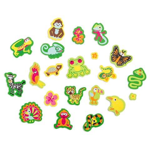 Peel Monkeys (Darice 196 Jungle Book Peel Off Foam Stickers~Monkey~Snake~Turtle~Parrot/Arts & Crafts/School)