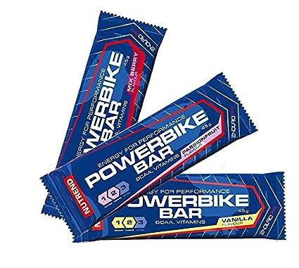 Nutrend POTENCIA BICICLETA PROTEIN BAR 20x45g energía Sabor vainilla cuenta con un alto contenido de carbohidratos
