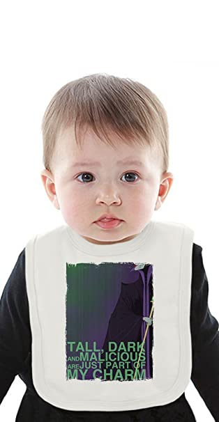 Maleficent Tall Dark And Malicious Organic Baby Bib With