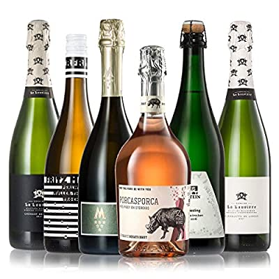 GEILE WEINE Weinpaket PRICKELNDES (6 x 0,75l) Probierpaket mit Sekt, Crémant, Schaum- und Perlweinen von Winzern aus…