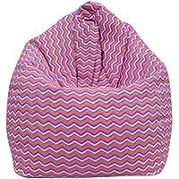 Jiyaru Bean Bag Soft Chair Couch Single Sofa Lazy Sofa Washable Wave Stripe