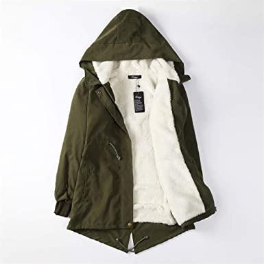 Ladies Women Hooded Parka Fleece Top Coat Winter Warm Women Long Jacket Coat Chaqueta Mujer Abrigo M at Amazon Womens Coats Shop