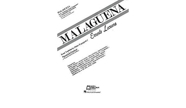 Malaguena Guitar Solo Guitarra solo 8 páginas: Amazon.es ...