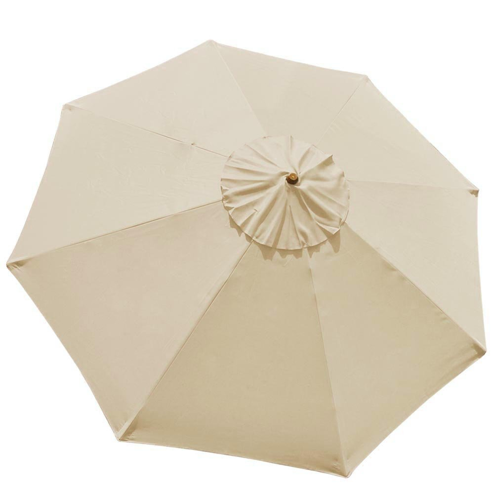 10Ft 8 Rib Umbrella Replacement Cover Canopy Patio Outdoor Market Deck Yard Top