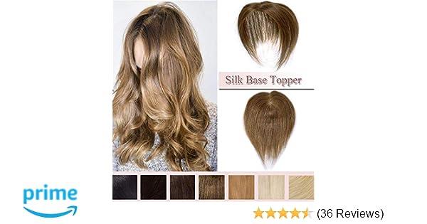 100% Real Human Hair Silk Base Top Hairpiece
